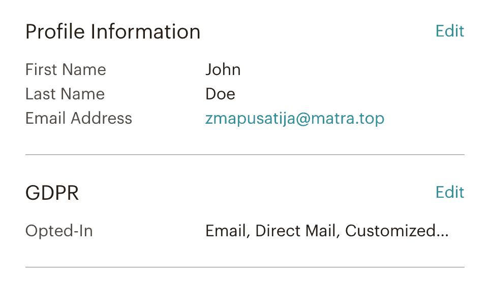 mailchimp gdpr flag