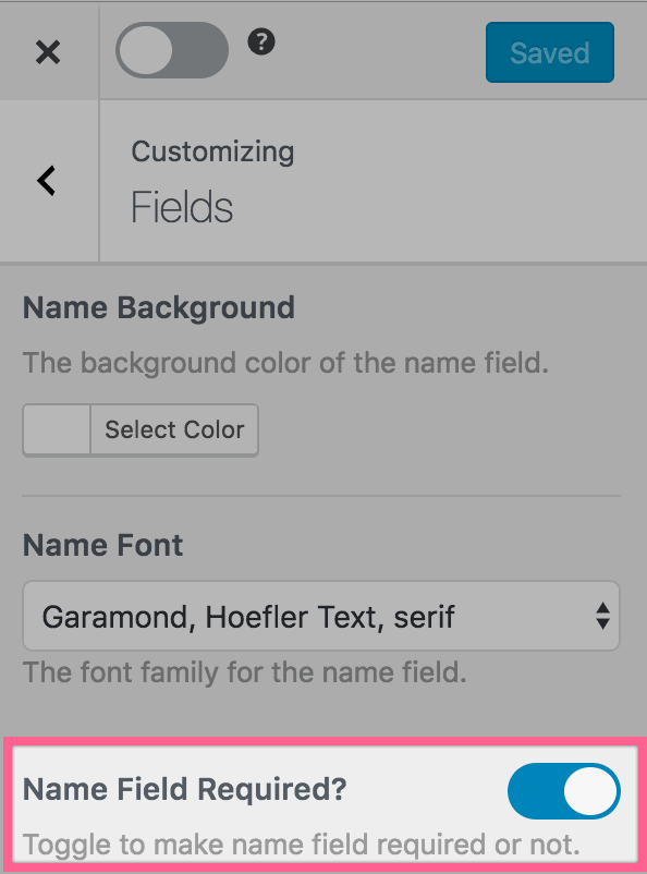 Make name field in optin form optional
